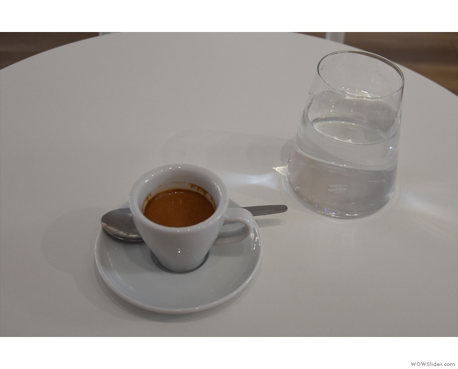 I returned a few days later to try the Mayni coffee as an espresso.