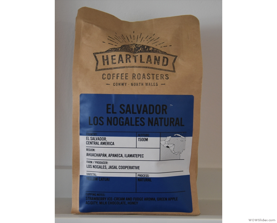 ... apart from a solitary bag of the guest from Heartland Coffee Roasters in the middle.
