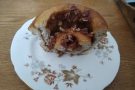 ... with the awesome pecan and salted sticky toffee bun which I took home to Amanda.