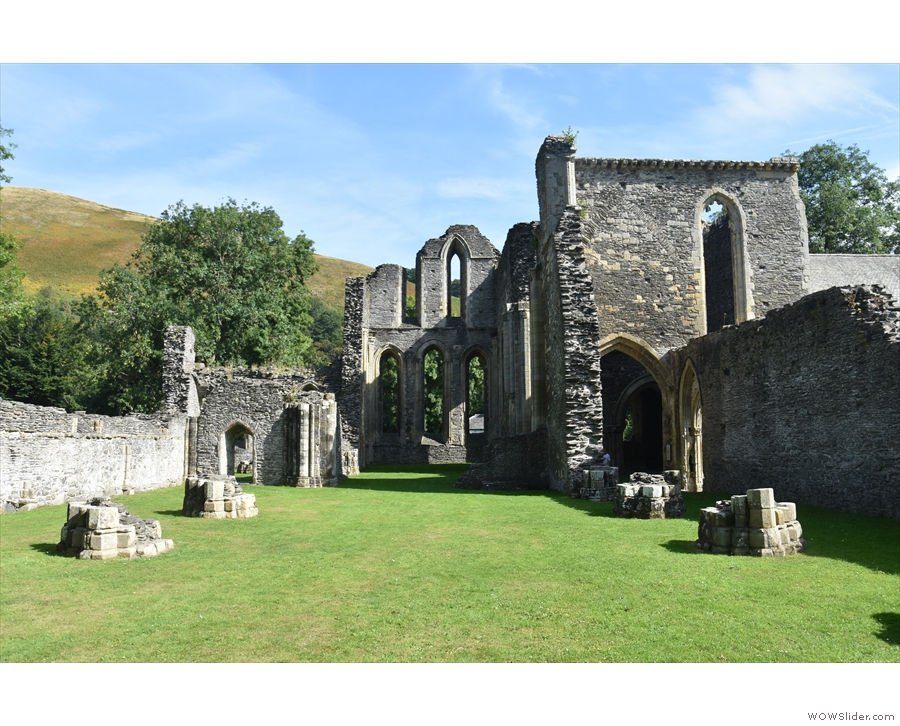 Suitably fortified, we went around Valle Crucis Abbey...