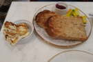 ... and toast, jam and cheese (halloumi) for Amanda.