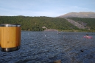 ... which we enjoyed on the shores of Llyn Padarn, before taking our coffee on to...