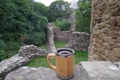 ... where my Global WAKEcup admired the 13th century castle walls.