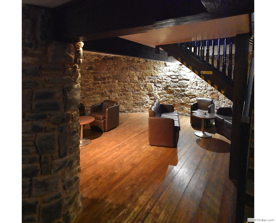 And here's the view from the foot of the stairs, looking towards the front of the tower.