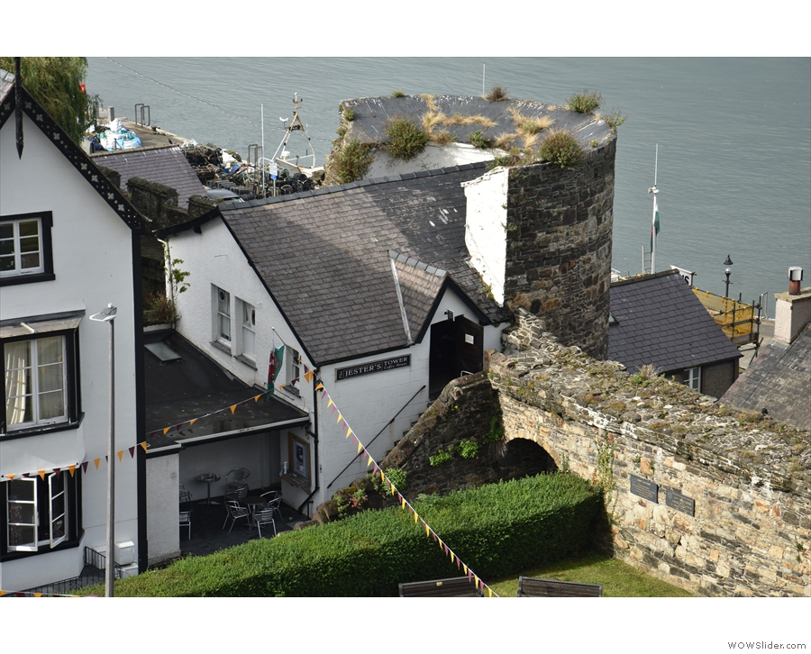 ... includes Conwy's newest speciality coffee shop, built into a tower in the town walls.