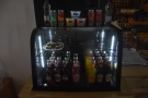 For now, there's a soft drinks display on the left of the counter top...