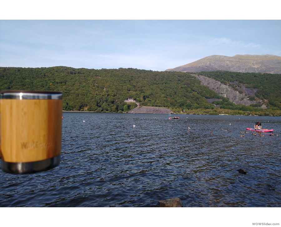 I'll leave you with my coffee enjoying the views from the shore of Llyn Padarn.
