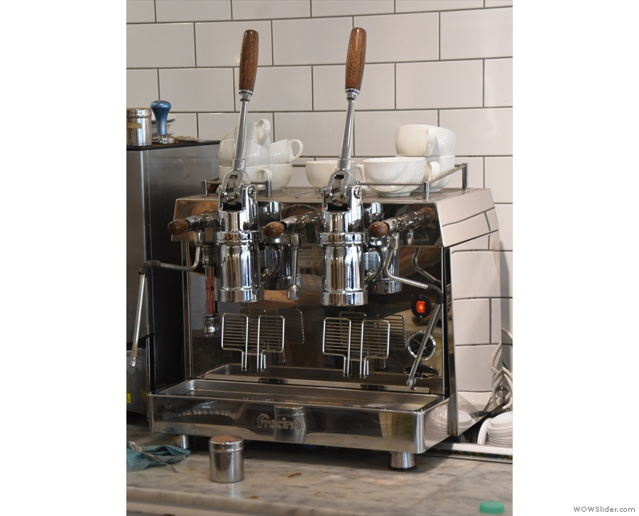 ... which then gives you an excuse to check out the Fracino lever espresso machine.