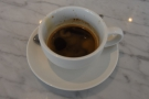 I had an espresso in an oversized cup...