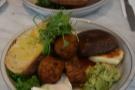On my return, I was with Amanda, and we both ordered the Vegan Medicine + halloumi...