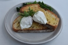 On my first visit, I kept it simple with the poached eggs on sourdough toast...