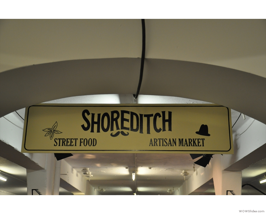 The Shoreditch zone, home of the street food and artisan markets, was calmer.
