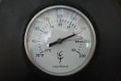 The thermometer is marked in both Celcius and Farenheit with a red area for the 'perfect'...