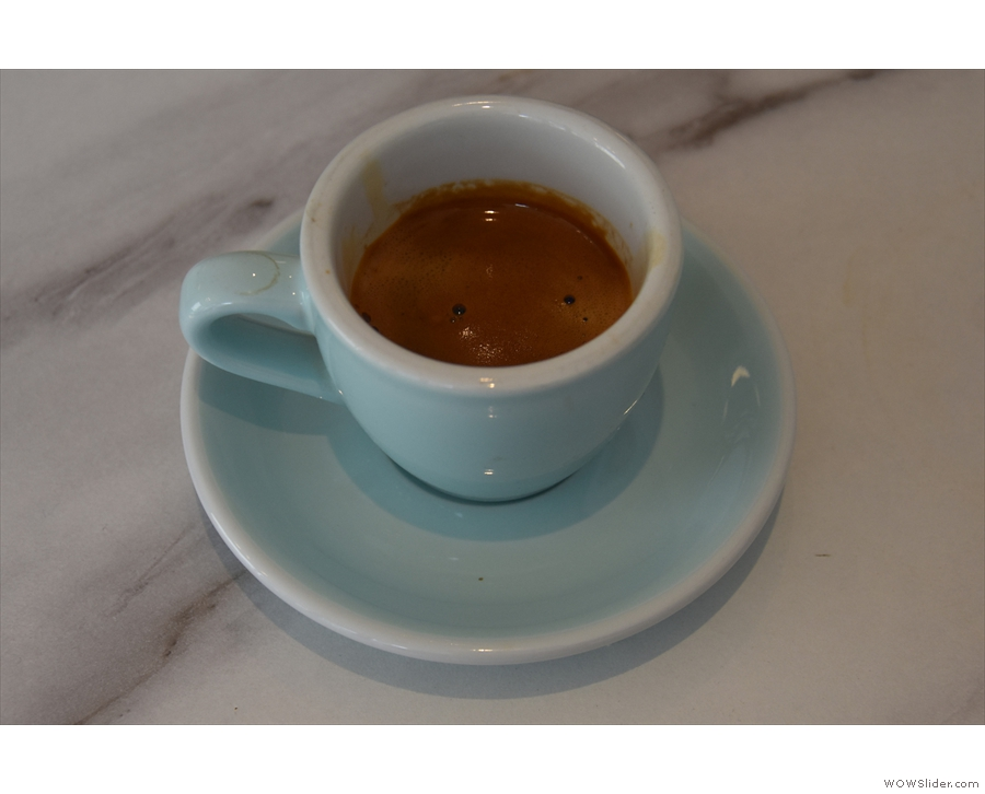 ... but I'll leave you with my espresso, made with Square Mile's Red Brick.