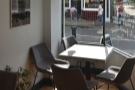 ... and a four-person table in the window to the right.