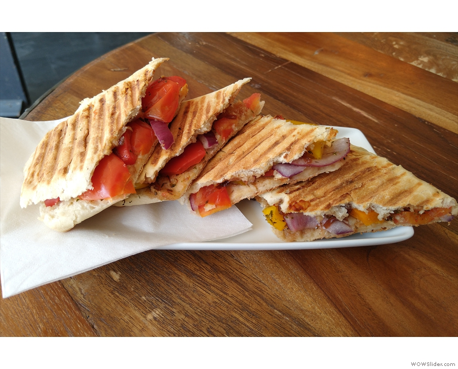 ... and this cheese and tomato panini was from June.