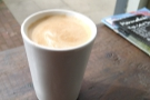 More coffee to go, this one from September last year, another flat white in my Therma Cup.