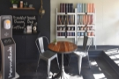 ... where you'll also find a two-/three-person table. That's it for seating, although the...