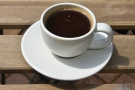 And an occasional espresso (pulled longer than I'd normally have, but tasting very good).