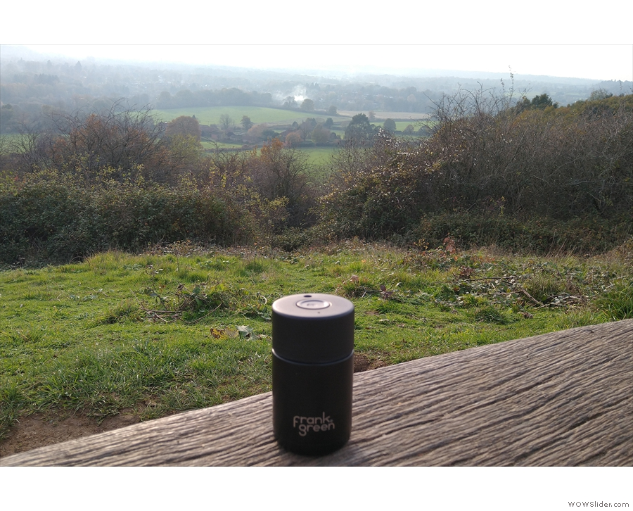 With COVID-19 on the up, I stayed close to home in November, taking my coffee for walks.