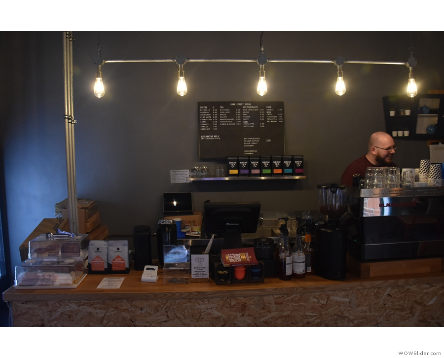 Talking of which, here it is, with the owner, Andy, behind the espresso machine.