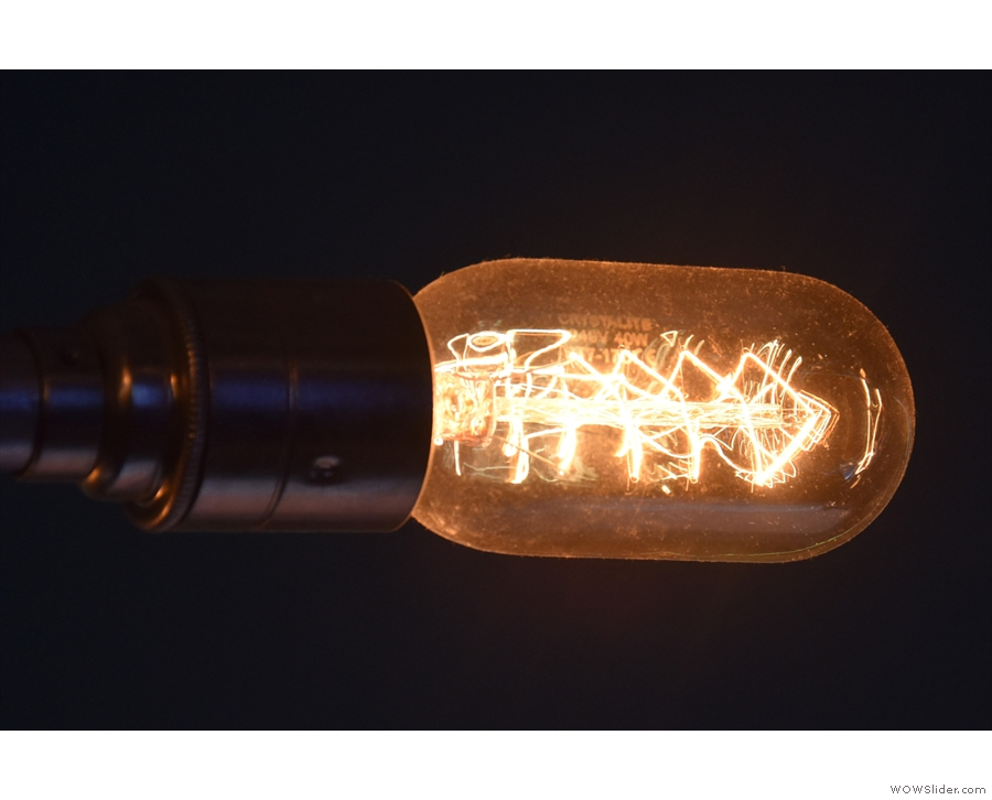 Light bulb close up.