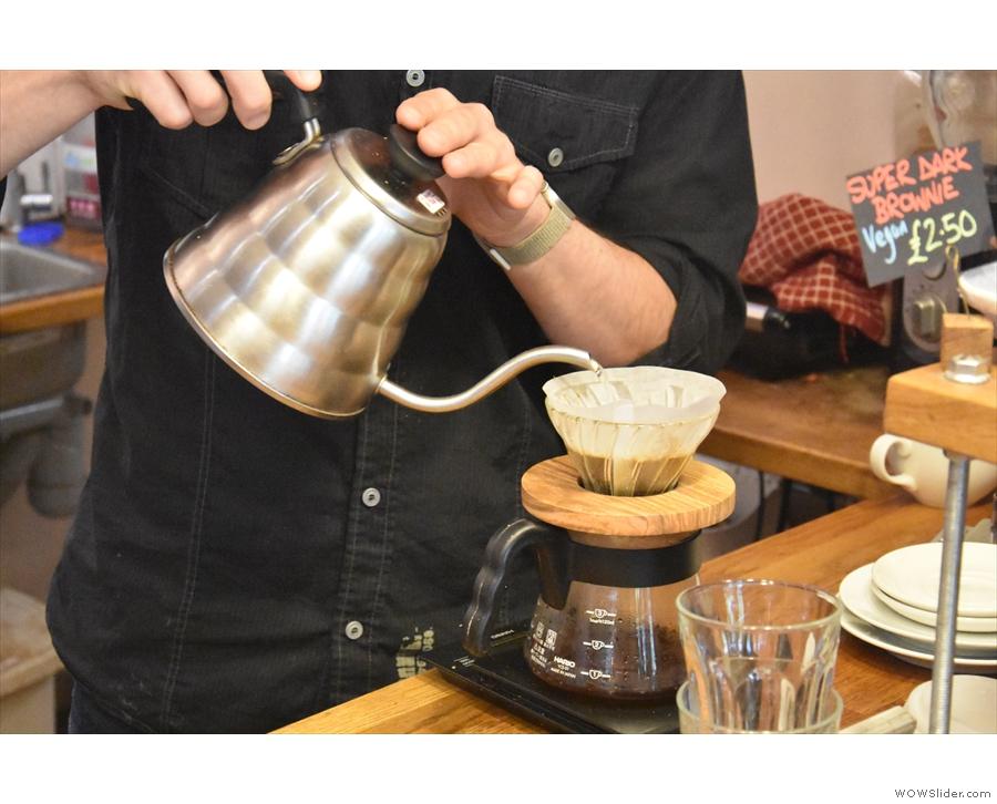 Then comes the main pour...
