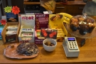 ... with more snacks on the left, conveniently next to the card reader.