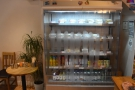 ... a chiller cabinet on the left for soft drinks and sandwiches to go...