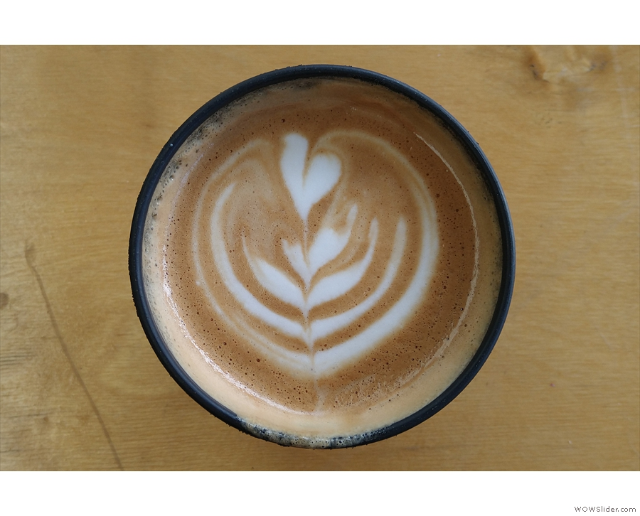 ... visit, which came with some lovely latte art. I paired that with...
