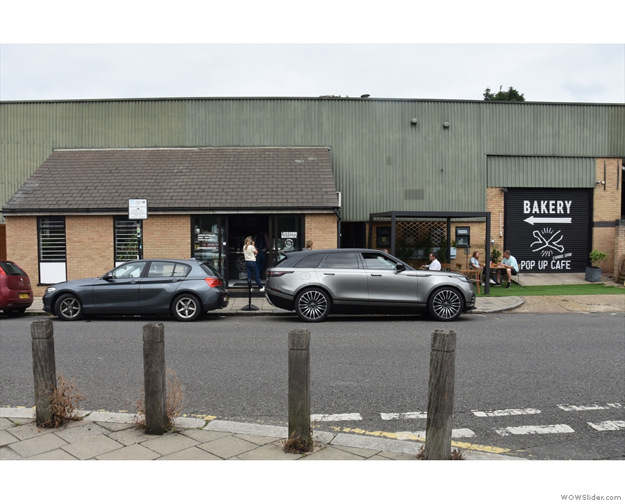Lockdown Bakehouse on Ferrier Street, Wandsworth, around the corner from the station.