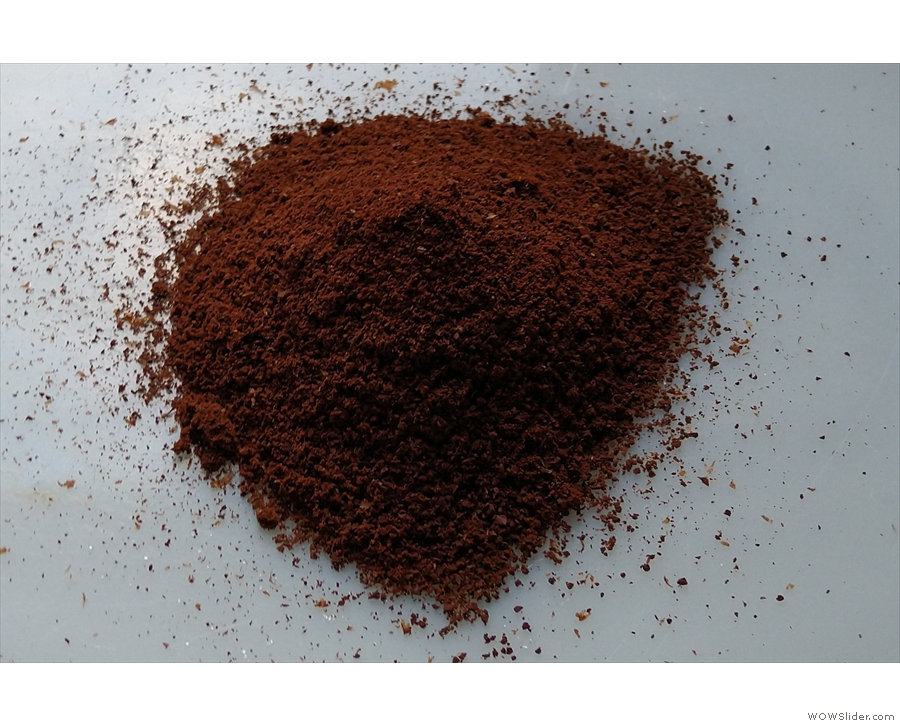 Grind your coffee. I use 15g with a reasonably fine grind.