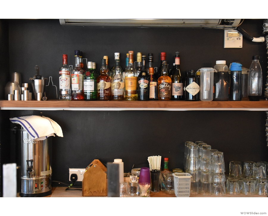 ... although there is a well-stocked bar for the cocktails.