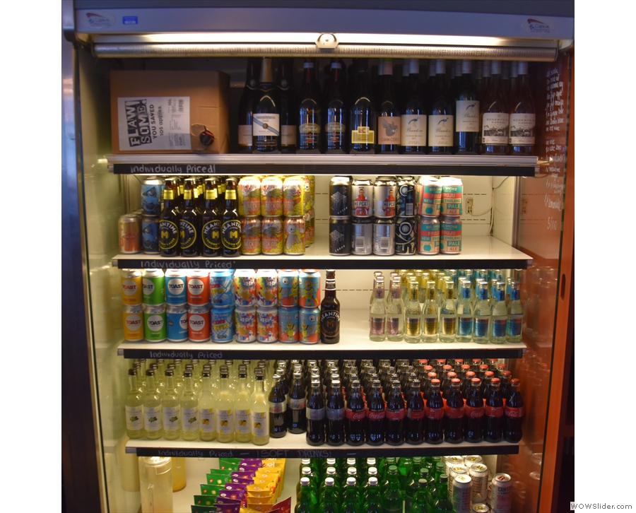 ... as well as a range of soft drinks and craft beer.