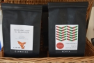 More retail on the counter. The Santa Ana from El Salvador is exclusive to Bean and Hop.