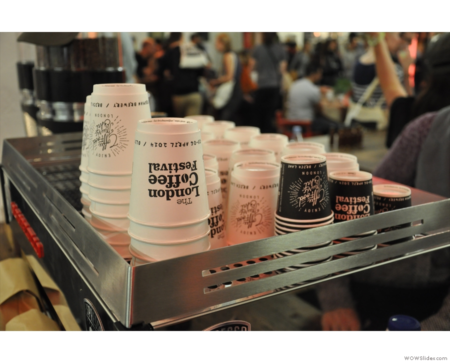 There were plenty of London Coffee Festival Cups, but they're all paper...