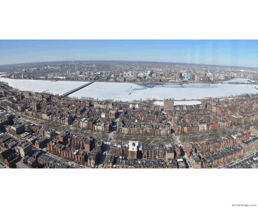 It was still cold enough that almost the entire Charles River was frozen!