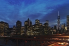 ... and walked back to Manhattan over Brooklyn Bridge in the twilight.