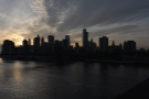 While it was still spring, I took a walk across Manhattan Bridge at dusk...