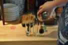 Before I went, Amanda prepared her signature drink, espresso over ice...