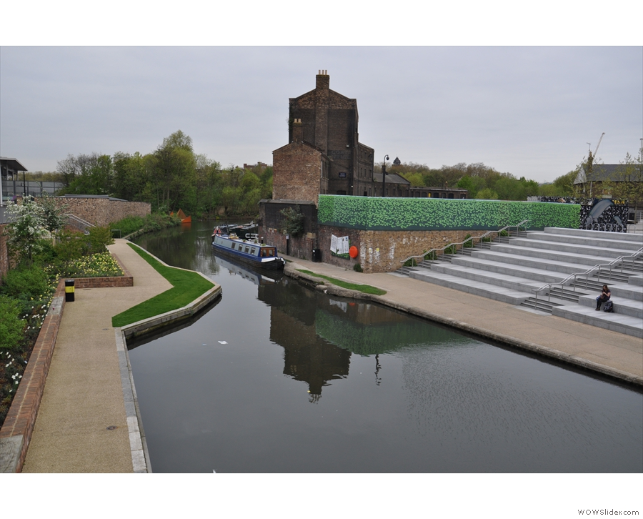 Around the back of King's Cross Station, you'll find the canal...