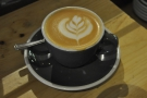 I started off with a decaf flat white (in the interests of self-preservation)...