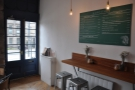 ... or the bar on the left-hand wall, with some high stools of its own.