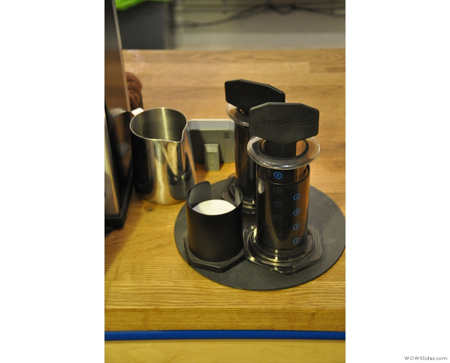 There's also an Aeropress if you fancy filter coffee...