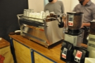... and a shiny espresso machine!