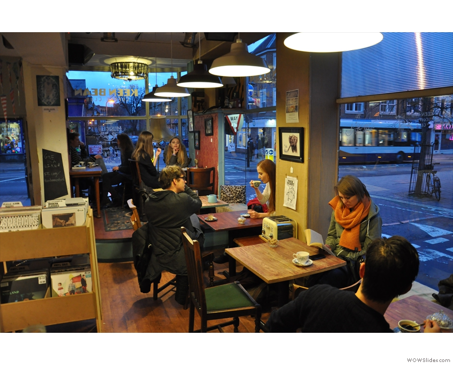 The view from the counter towards the front of Keen Bean.