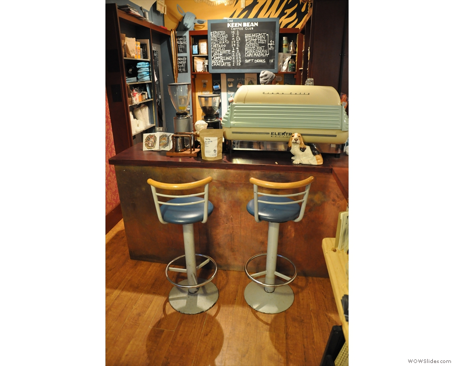 You can also perch at the counter on one of these neat bar chairs.
