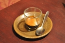 My espresso, in a glass.