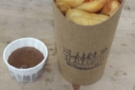 All that was left were chips. But they were good chips. With homemade brown sauce!