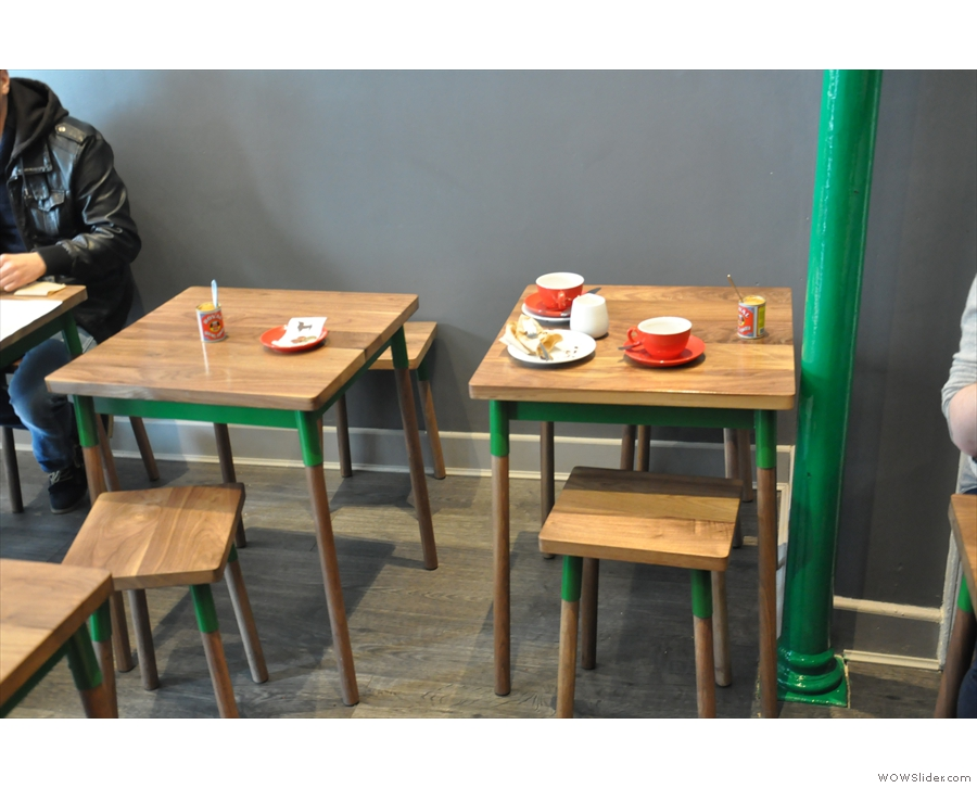 As do these tables in the front half of the store (I ended up at a very similar one).
